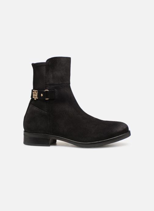 Ankelstøvler Tommy Hilfiger TH Buckle Bootie Stretch Sort se bagfra