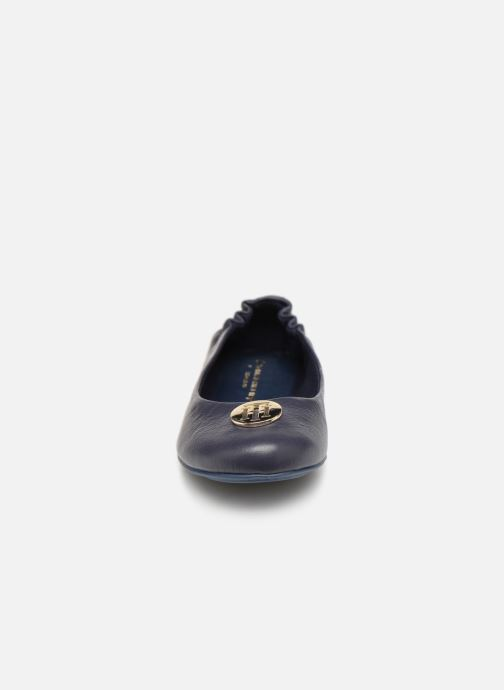 Ballerines Tommy Hilfiger Flexible ballerina leather Bleu vue portées chaussures