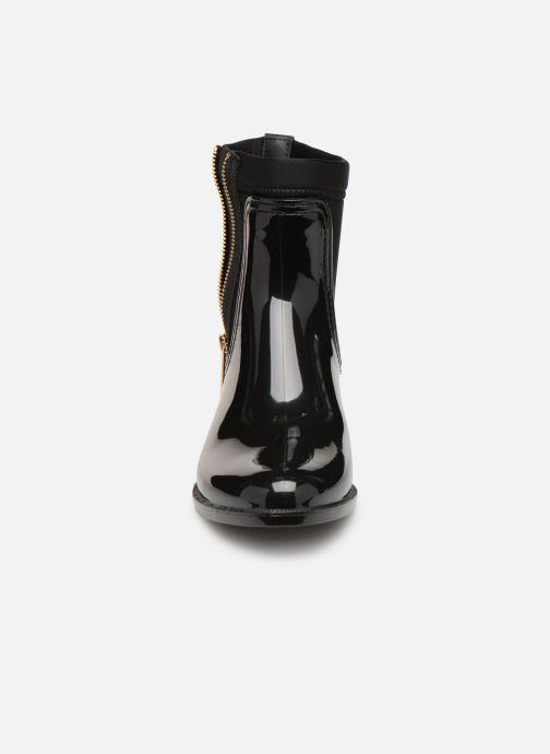 Stivaletti e tronchetti Tommy Hilfiger Material Mix Rain Boot Nero modello indossato