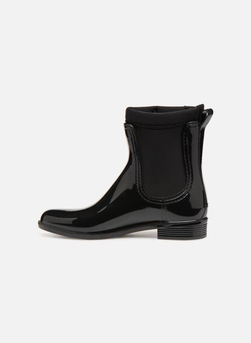 Boots en enkellaarsjes Tommy Hilfiger Material Mix Rain Boot Zwart voorkant