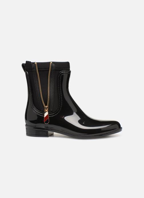 Stiefeletten & Boots Tommy Hilfiger Material Mix Rain Boot schwarz ansicht von hinten