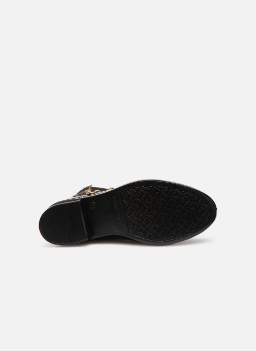 Stiefeletten & Boots Tommy Hilfiger Material Mix Rain Boot schwarz ansicht von oben