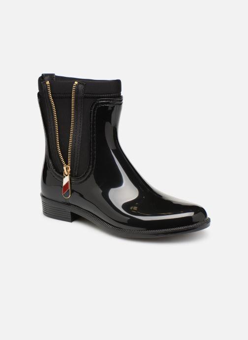 8fdfea7a2b1e Boots en enkellaarsjes Tommy Hilfiger Material Mix Rain Boot Zwart detail