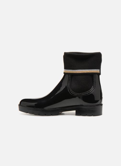 Ankelstøvler Tommy Hilfiger Knitted Sock Rain Boot Sort se forfra