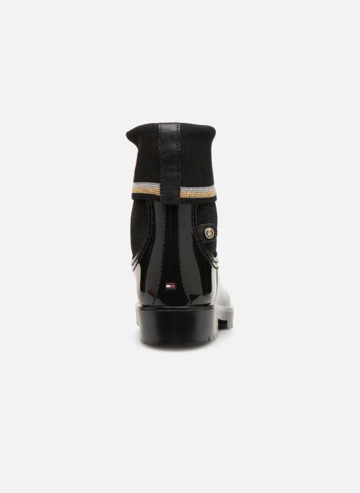 Botines  Tommy Hilfiger Knitted Sock Rain Boot Negro vista lateral derecha