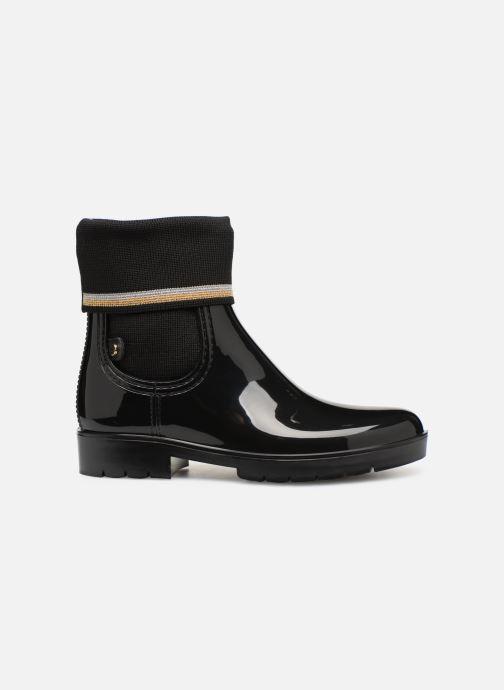 Ankelstøvler Tommy Hilfiger Knitted Sock Rain Boot Sort se bagfra