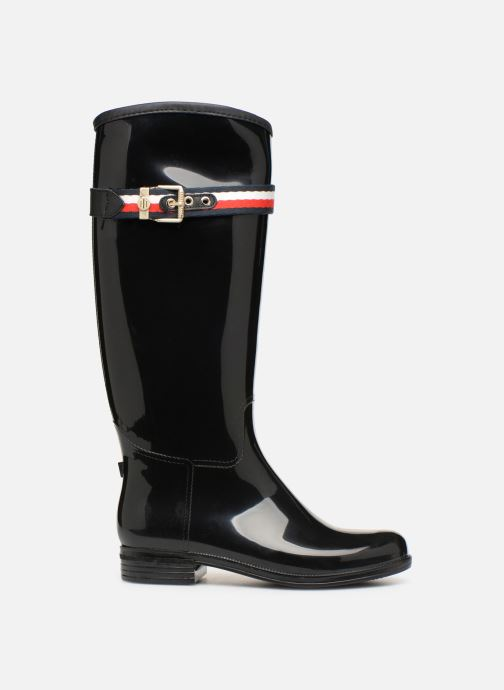 Støvler & gummistøvler Tommy Hilfiger Corporate Belt Long Rain Boot Sort se bagfra