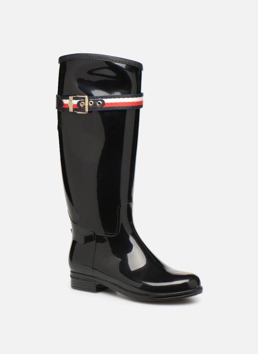 Støvler & gummistøvler Tommy Hilfiger Corporate Belt Long Rain Boot Sort detaljeret billede af skoene