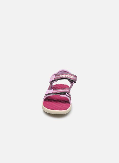 Sandalen Timberland Perkins Row Webbing Sndl rosa schuhe getragen