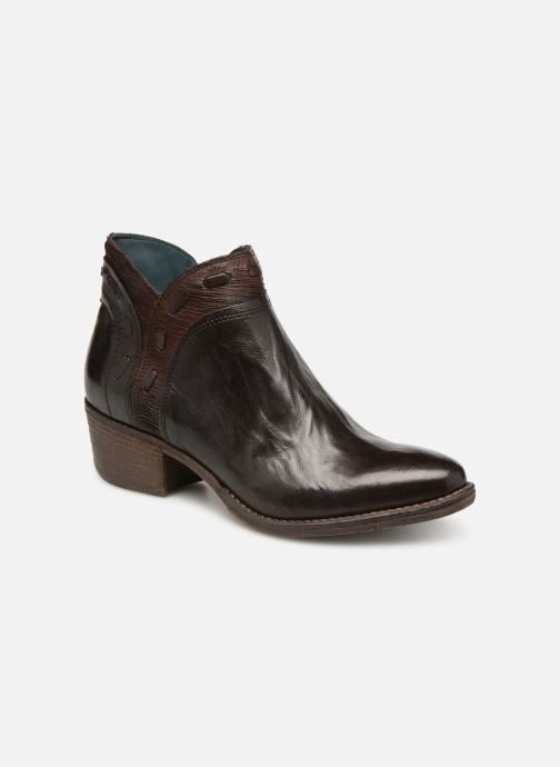 Ankle boots Khrio Polacco 2402 Brown detailed view/ Pair view