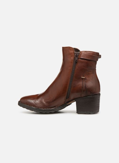 Ankle boots Khrio Tronchetto 2706 Brown front view