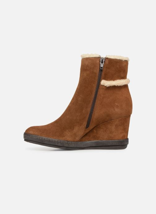 Ankle boots Khrio Tronchetto 6600 Brown front view