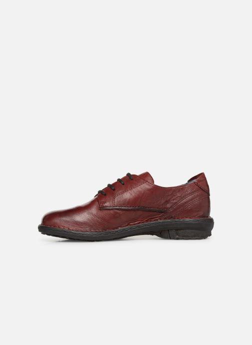 Zapatos con cordones Khrio Scarpa 1003 Vino vista de frente
