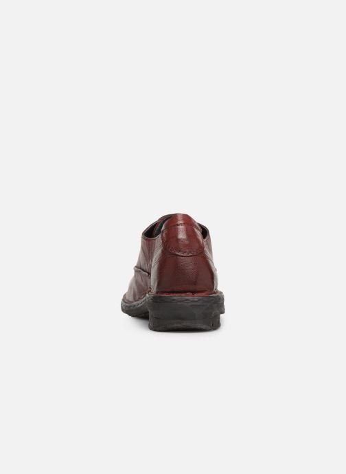 Zapatos con cordones Khrio Scarpa 1003 Vino vista lateral derecha