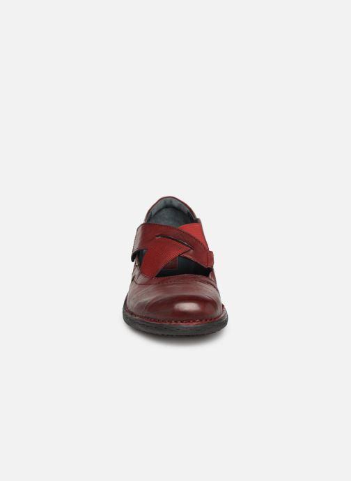 Ballerines Khrio Scarpa 1001 Bordeaux vue portées chaussures