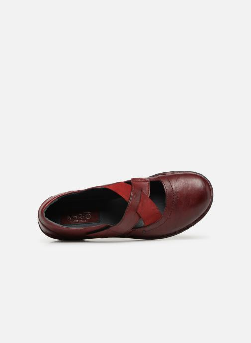 Ballet pumps Khrio Scarpa 1001 Burgundy view from the left