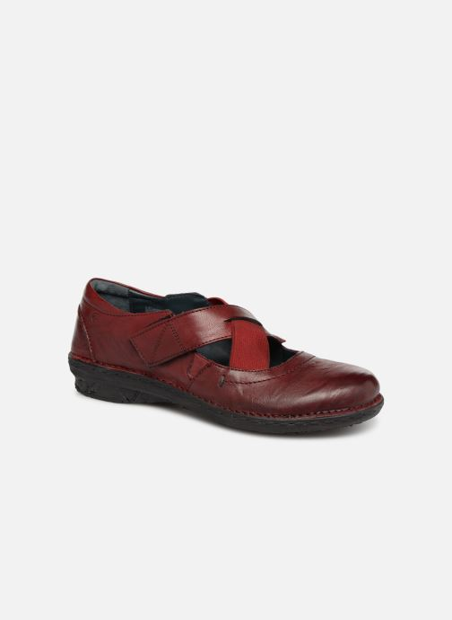 Ballet pumps Khrio Scarpa 1001 Burgundy detailed view/ Pair view