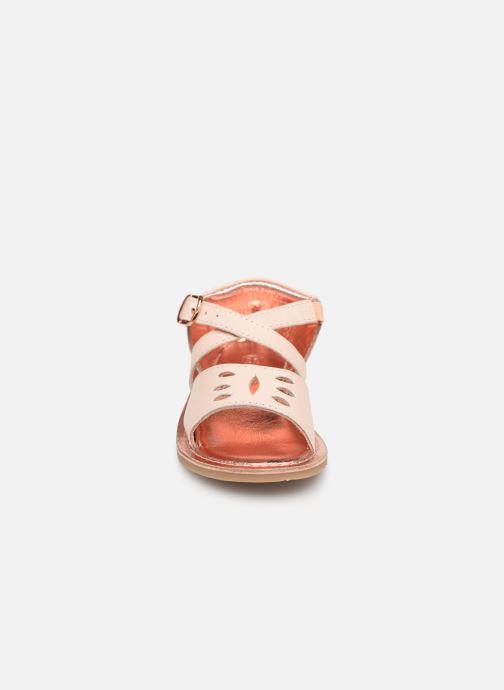 Sandales et nu-pieds CARREMENT BEAU SANDALETTES Y99039 Rose vue portées chaussures