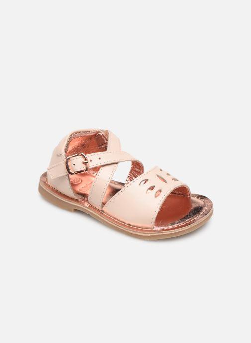 Sandales et nu-pieds CARREMENT BEAU SANDALETTES Y99039 Rose vue détail/paire