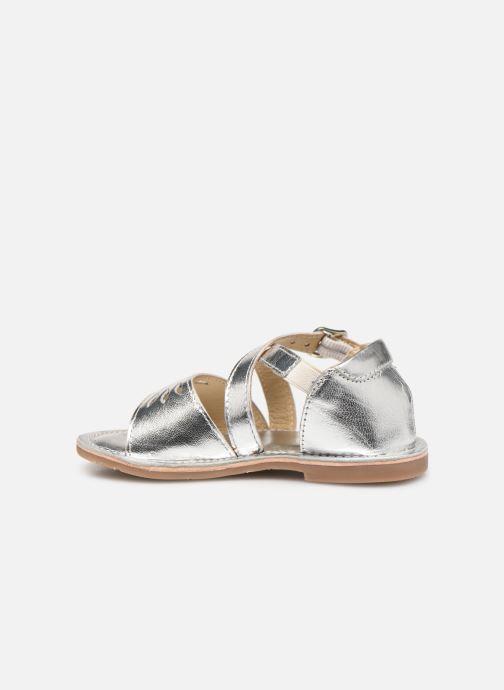 Sandales et nu-pieds CARREMENT BEAU SANDALETTES Y99039 Argent vue face