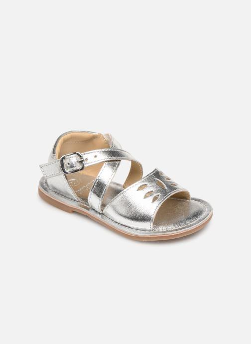 Sandales et nu-pieds CARREMENT BEAU SANDALETTES Y99039 Argent vue détail/paire