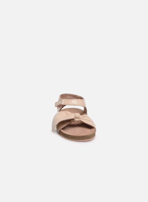 Sandales et nu-pieds CARREMENT BEAU SANDALES NŒUD Y99038 Rose vue portées chaussures