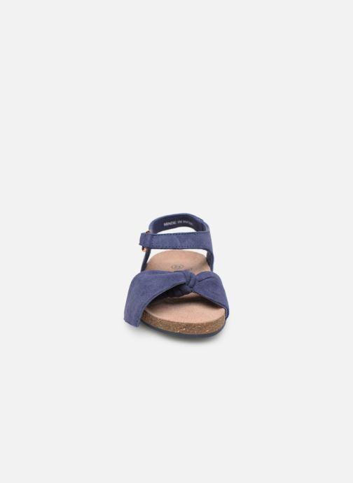 Sandales et nu-pieds CARREMENT BEAU SANDALES NŒUD Y99038 Bleu vue portées chaussures