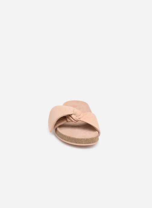 Sandales et nu-pieds CARREMENT BEAU CLAQUETTE Y19039 Rose vue portées chaussures