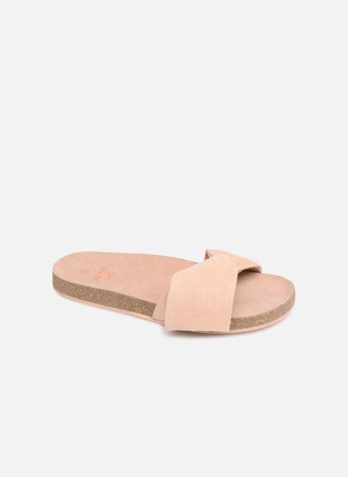 Sandales et nu-pieds CARREMENT BEAU CLAQUETTE Y19039 Rose vue détail/paire
