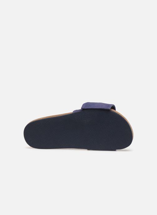 Sandales et nu-pieds CARREMENT BEAU CLAQUETTE Y19039 Bleu vue haut