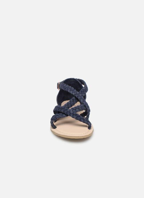 Sandales et nu-pieds CARREMENT BEAU SANDALES CORDE Y19037 Bleu vue portées chaussures