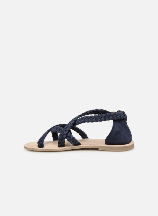 Sandales et nu-pieds CARREMENT BEAU SANDALES CORDE Y19037 Bleu vue face
