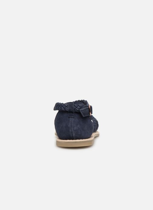 Sandales et nu-pieds CARREMENT BEAU SANDALES CORDE Y19037 Bleu vue droite