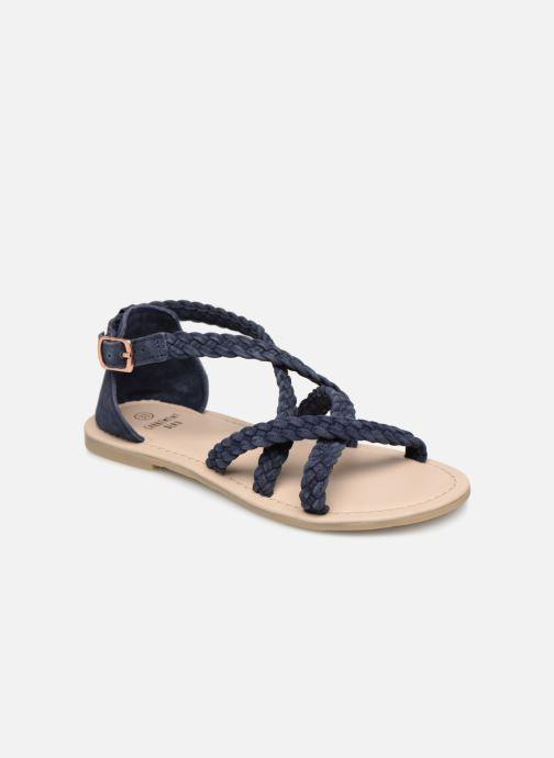 Sandales et nu-pieds CARREMENT BEAU SANDALES CORDE Y19037 Bleu vue détail/paire
