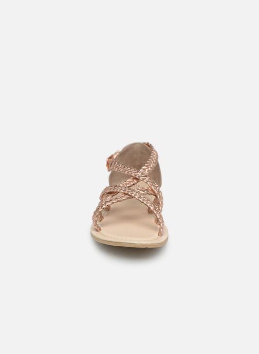 Sandales et nu-pieds CARREMENT BEAU SANDALES CORDE Y19037 Rose vue portées chaussures