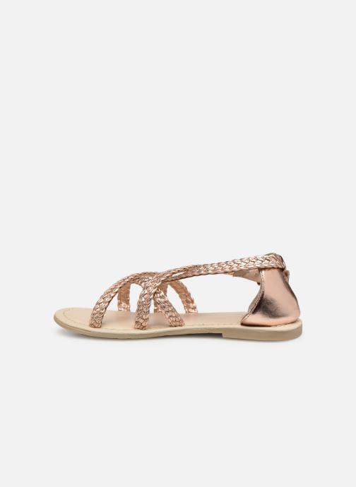 Sandales et nu-pieds CARREMENT BEAU SANDALES CORDE Y19037 Rose vue face