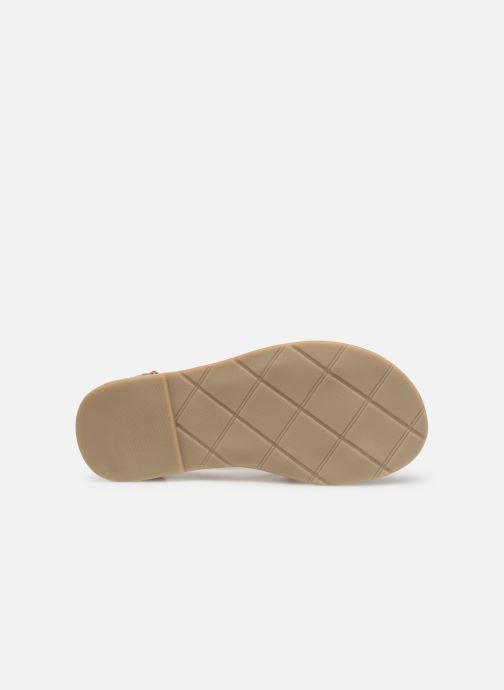 Sandales et nu-pieds CARREMENT BEAU SANDALES CORDE Y19037 Rose vue haut