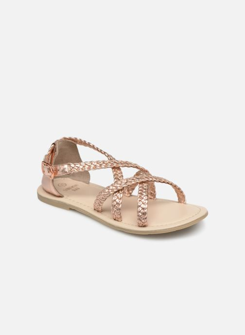 Sandales et nu-pieds CARREMENT BEAU SANDALES CORDE Y19037 Rose vue détail/paire