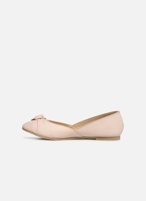 Ballerines CARREMENT BEAU BALLERINE NŒUD Y19036 Rose vue face