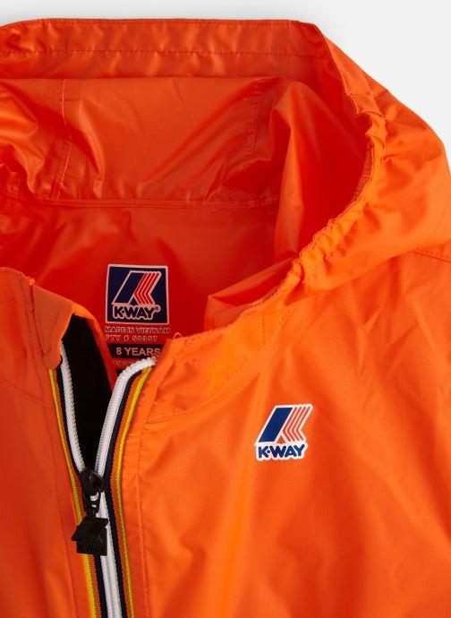 Vêtements K-Way  Le Vrai Claude 3.0 Kids Orange vue portées chaussures