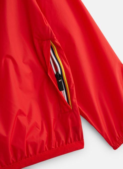 Vêtements K-Way  Le Vrai Claude 3.0 Kids Rouge vue portées chaussures