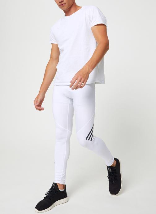 Vêtements adidas performance ASK SPR LT 3S Blanc vue bas / vue portée sac