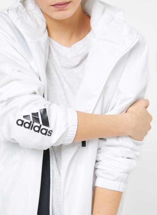 Vêtements adidas performance W WND JKT FL Blanc vue face