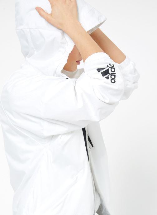 Vêtements adidas performance W WND JKT FL Blanc vue détail/paire