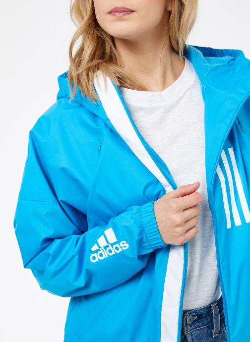 Vêtements adidas performance W WND JKT FL Bleu vue face