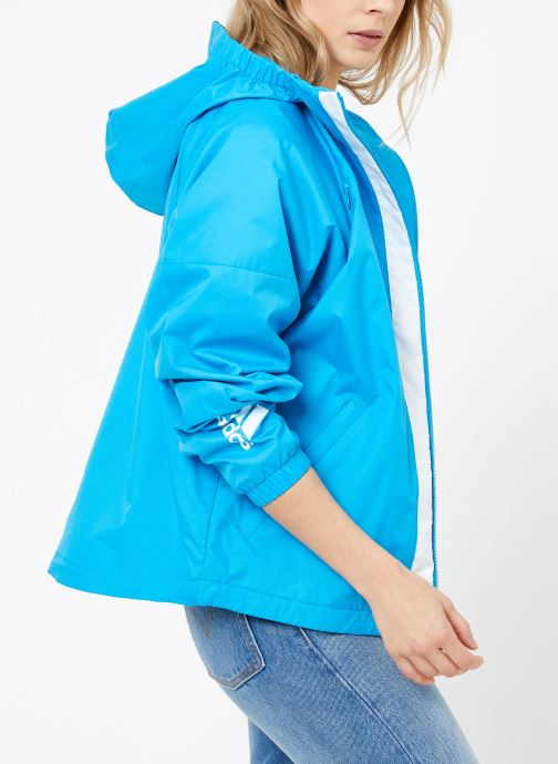 Vêtements adidas performance W WND JKT FL Bleu vue droite