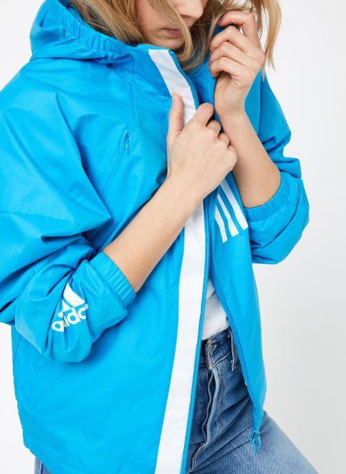 Kläder adidas performance W WND JKT FL Blå detaljerad bild på paret