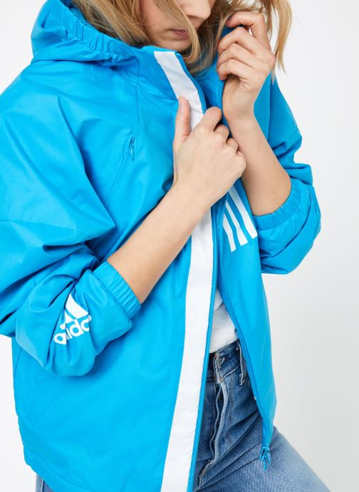 Vêtements adidas performance W WND JKT FL Bleu vue détail/paire