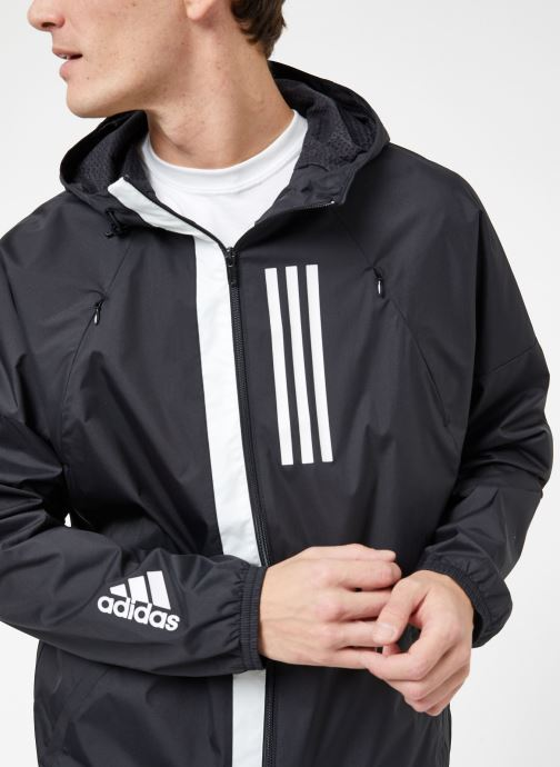 Vêtements adidas performance M WND JKT FL Noir vue face