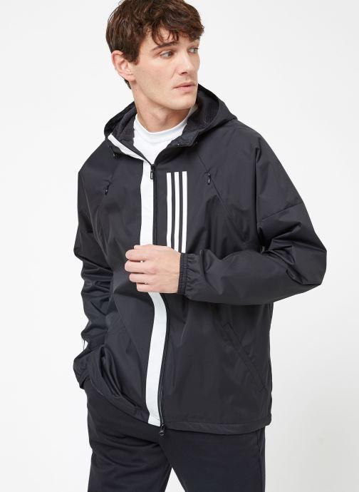 Vêtements adidas performance M WND JKT FL Noir vue droite